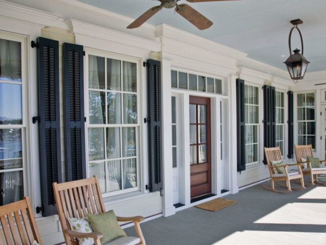 Architectural Louvered Colonial Shutters | Black 632