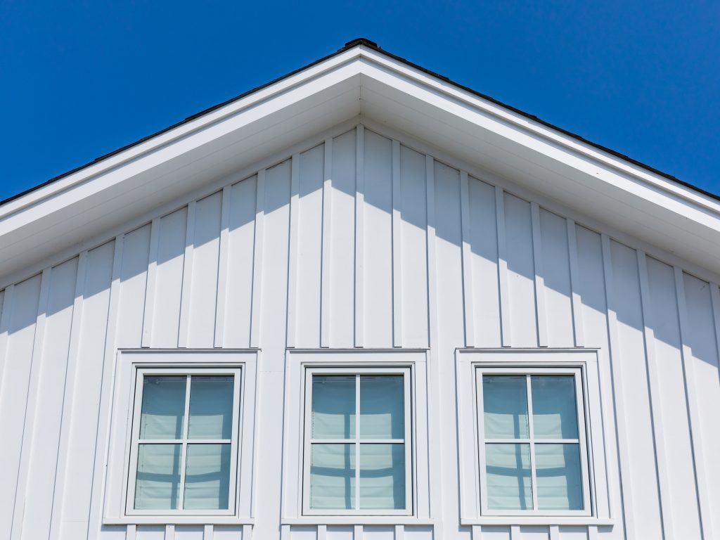 TruExterior Siding, board-and-batten, poly-ash siding