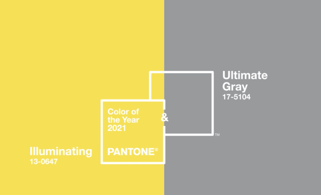 Pantone 2021 Colors of the Year, Iluminating, Ultimate Gray