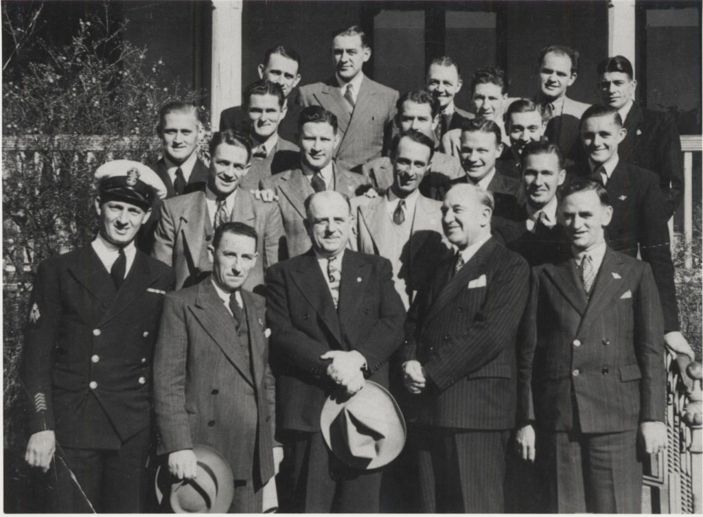 Boral employees leaving for the United States in 1947.